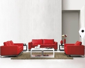 Red Modern Design Leather Sofa Set 44L1048R