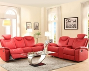 Red Reclining Sofa Set Talbot by Homelegance EL-8524RD-SET