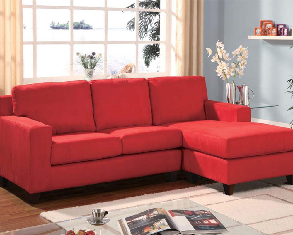Red Sectional W Reversible Chaise Vogue By Acme Ac05917a