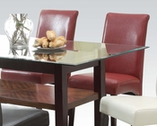 Red Side Chair Ripley by Acme Furniture AC71363 (Set of 2)