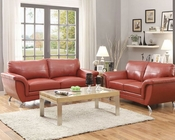 Red Sofa Set Chaska by Homelegance EL-8523RED-SET