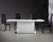 Renata Modern White Lacquer Dining Set 44DLS201BSET