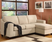 Reversible Chaise Sectional Vogue Beige by Acme Furniture AC05913A