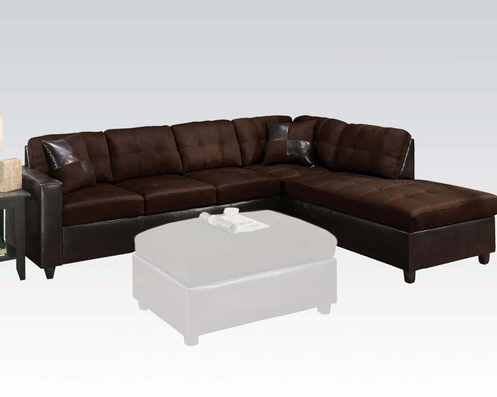 Reversible Sectional Sofa Milano Chocolate by Acme