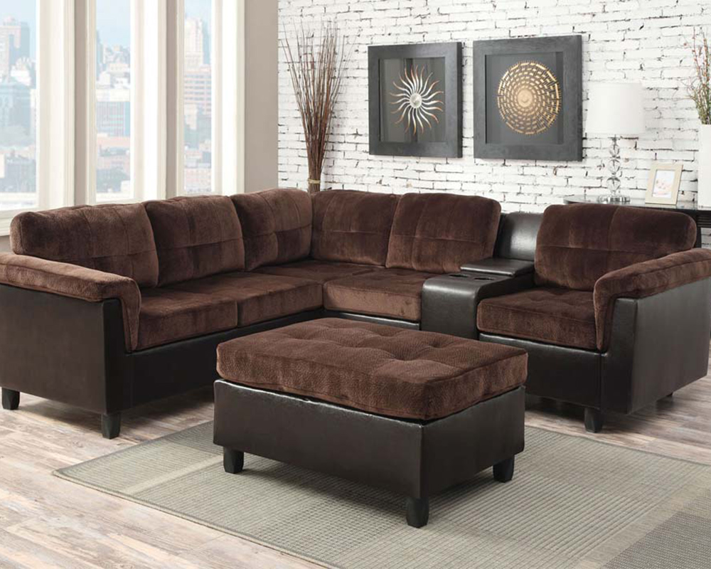 Reversible Sectional Sofa Set Cleavon By Acme Furniture