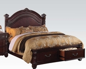 Rich Brown Bed Vevila by Acme Furniture AC20500BED