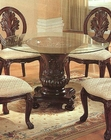 Rich Cherry Glass Top Dining Table CO-101030