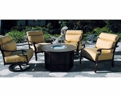 Riva Patio Sitting Set w/ Fire Pit Table by Sunny Designs SU-4715-Set2