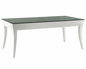 Roberta Transitional White Lacquer Dining Table 44D8TF002