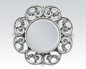 Round Accent Mirror in Silver by Acme Furniture AC97061