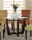 Round Glass Dining Table in Cappuccino CO-101490