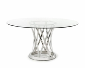 Round Glass Dining Table in Modern Style 44D8908-3