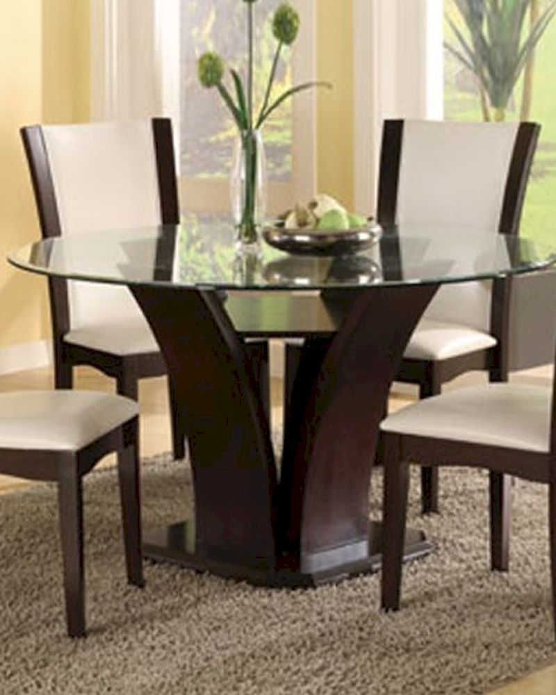 Round Glass Top Dining Table Daisy EL 710 54