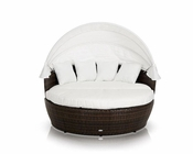 Round Patio Day Bed w/ Retractable Sun Cover 44P105