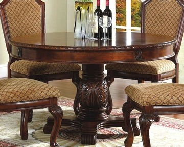 Round Pedestal Dining Table In Classic Cherry Mcfd5006 5454