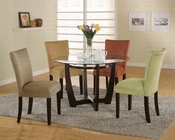 Round Table Dinette Set in Cappuccino CO-101490s