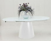 Round White Matt Dining Table in Modern Style 44D2609XT