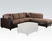 Saddle Finish Reversible Sectional Sofa Milano by Acme AC51330