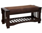 Santa Fe Bench w/ Cushion Seat by Sunny Designs SU-2237DC