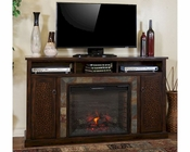 Santa Fe Fireplace TV Console by Sunny Designs SU-3489DC-66R