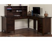 Santa Fe L-Shape Desk by Sunny Designs SU-2969DC
