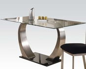 Satin Plated Dining Table Camille by Acme Furniture AC10090