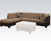 Sectional Sofa Connell Light Brown by Acme Furniture AC55945