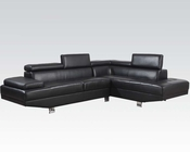 Sectional Sofa Connor Black by Acme Furniture AC51965