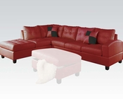 Sectional Sofa Kiva Red by Acme Furniture AC51185