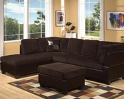 Sectional Sofa Set Connell Chocolate by Acme Furniture AC55975SET