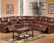Sectional Sofa Set Fullerton Brown by Acme Furniture AC50200-SEC