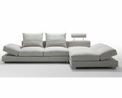 Sectional Sofa w/ Down Feather Cushioning in Modern Style 44L6094