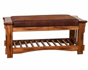 Sedona Bench w/ Cushion Seat by Sunny Designs SU-2237RO