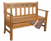 Sedona Bench with Storage/ Wooden Seat by Sunny Designs SU-1594RO