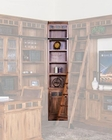 Sedona Inside Corner Bookcase by Sunny Designs SU-2966RO-B6