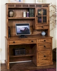 Sedona Single Pedestal Desk w/ Hutch by Sunny Designs SU-2968RO-DH