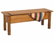 Sedona Storage Side Bench w/ Wooden Seat by Sunny Designs SU-1592RO
