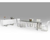 Set w/ Dining Glass Rectangular Table 44D8978-SET