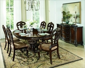 Set w/ Round Dining Table Deryn Park by Homelegance EL-2243-76-SET