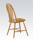 Side Chair in Oak Finish Farmhouse by Acme AC02482OAK (Set of 4)