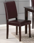 Side Chair in Rich Cappuccino Coaster CO-101342 (Set of 2)