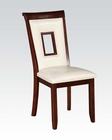 Side Chair in White Oswell by Acme AC71602 (Set of 2)