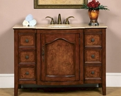"Silkroad 48"" Single Sink Cabinet Travertine Top"