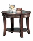 Simpson Round End Table with Glass Top CO5524