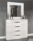 White Single Dresser and Mirror in Modern Style Carmen 33191CA