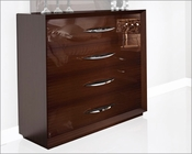 Single Dresser Modern Style in Walnut Carmen 33151CR