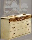 Single Dresser Gold Baroque Classic Style Made in Italy 33B427