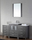 Single Zebra Grey Bathroom Set Dior by Virtu USA VU-KS-70060-C-ZG