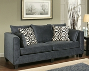 Sofa Monaco Contemporary Style in Eclipse Finish BH-47SS192