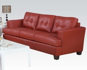 Sofa Platinum Red by Acme Furniture AC15100B
